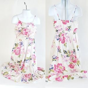 Girls XS 4/5 Floral Maxi Dress